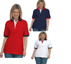 Ladies Pique Polo Shirt Loose Fit Unisex Size 12 to 28 Plus 100% Cotton