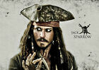 PIRATES OF THE CARIBBEAN JACK SPARROW JOHNNY DEPP WALL ART POSTER (A1 -A5 SIZES)