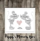 Mickey & Minnie Mouse Word Art Disney Christmas Love Gift Plus Same Sex Option
