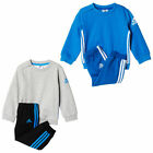 adidas Sport Crew Jogger 3 Stripe Infant Kids Boys Tracksuit Set