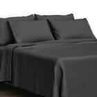 Egyptian Bed Sheet 4 Piece Set 1800 Series Comfort - Deep Pocket And Embroidered image