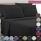 Egyptian Bed Sheet 4 Piece Set 1800 Series Comfort - With Deep Pocket, 11 Colors image