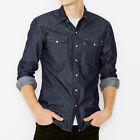 Mens Levis Barstow Red Cast Rinse Denim Shirt