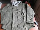NWT MENS DICKIES HOODED QUILTED SNAP FRONT OVERSHIRT JACKET SAGE SMALL & XLARGE