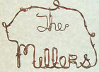 Personalized Name Sign Vintage Barbed Wire rustic primitive decor 6-18 letters
