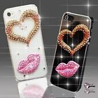 NEW DELUX DIAMANTE LOVE PINK DIAMOND CASE COVER 4 SAMSUNG iPHONE SONY HTC 5 6 S6