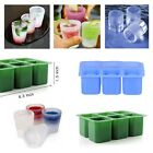 6 Cups Silicone Square Glass Shot Freeze Mould Ice Cube Cool Shooers Mold Tray