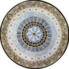 Marble Medallion Mosaic Floor Art TileInlay or Tabletop or Wall Mural Handmade -