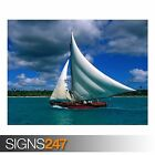 FISHING SAILBOAT DOMINICAN (3288) Beach Poster - Poster Print Art A1 A2 A3 A4