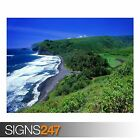 POLOLU VALLEY HAWAII (3290) Beach Poster - Photo Poster Print Art * All Sizes