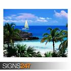 ELEUTHERA POINT HARBOUR (3274) Beach Poster - Poster Print Art A0 A1 A2 A3 A4
