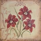 "JM5274 Red Lilies Jo Moulton 6""x6"" framed or unframed print art lily"