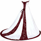 2018 New White/Ivory Wedding Dresses Lace Bride Ball Gown Back Lace-up Plus Size
