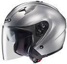 New HJC IS-33 Solid Motorcycle Open Face Helmet with Shield