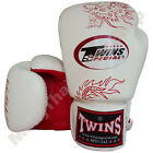 Twins Special Muay Thai Boxing Fancy Gloves FBGV-6R-WH White 8-10-12-14-16 oz.