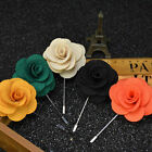 Men Flower Floral Boutonniere Wedding Corsage Prom Lapel Stick Pin Hat Brooch