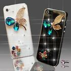 NEW BUTTERFLY FLOWER DIAMOND MOBILE CASE COVER SAMSUNG iPHONE SONY HTC 4 5 S6 S5