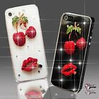 BLING RED CHERRIES DIAMOND MOBILE CASE COVER SAMSUNG iPHONE SONY HTC 4 5 S6 S5