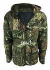 New Mens Camouflage Tree Print Hooded Hunting Jacket - Shooting - Fishing
