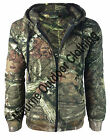 New Mens Camouflage Tree Print Quilted Hunting Bomber Jacket Shooting - Fishing