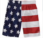 OP Youth Flag Swim Trunks Boys Swimsuit Size 4 to 18 Americana Patriotic USA
