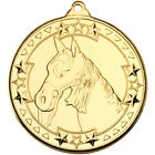 Horse Medal 50 mm in 3 Colours with FREE Ribbon & Engraving upto 30 Letters