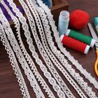 5Yd Vintage Polyester Cotton Crochet Edge Lace Trim Ribbon Applique Sewing Craft
