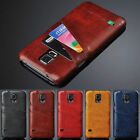 Luxury Vintage Leather Card Slot Back Case Cover for Samsung Galaxy S7 & S7 Edge