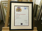 22mm Plain Black Certificate Frames with Single or Double Mount