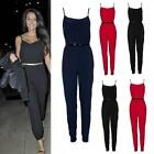 Womens Sexy Celebrity  Black Party Evening Playsuit Jumpsuit All In One Trouser
