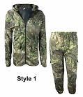 New Mens Camouflage Tree Print Hooded Hunting Jacket Tracksuit Shooting Fishing