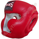 Twins Special Muay Thai Head Guard Protection HGL-3 Red Size M-L.
