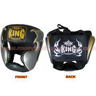 Top King Boxing Muay Thai Head Guard Protection TKHGEM-01 Black Size M-L.