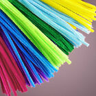 25 x 6mmX30cm - CHENILLE STEMS / PIPE CLEANERS - CHOICE OF COLOUR - SOME SPARKLE