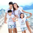 2017 Summer New family matching clothes mother daughter father son T shirt sets
