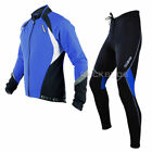 Sobike Cycling Suits Fleece Winter Jacket-Aurora ,Fleece Tights-Cruise Blue