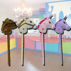 CHILDRENS CLASSIC HOBBY HORSE UNICORN WITH GALLOP AND NEIGH SOUNDS KIDS TOYS