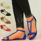 NEW WOMENS SUMMER SANDALS LADIES FLAT FLIP FLOP PEEP TOE BEACH SHOES SIZE UK 3-8