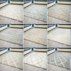 New MODERN RUG FES DIAMOND SQUARE DESIGN CONTEMPORARY MATS SMALL LARGE