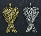 free shipping Lots Exquisite beautiful Angel Wings Fashion Charm Pendant 29x16mm