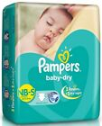Pampers Diapers Baby Dry NewBorn Disposable Size 1 2 3 4 - XS S M L Soft New