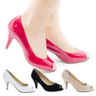 Simon Peep Toe Comfort Insole Classic Dress Pumps