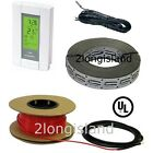 Floor Heat Electric Tile Radiant Warm Heated Cable Wire Kit with GFCI Thermostat