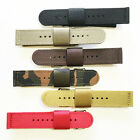 2 piece Military Style Nylon Watch Strap Band in 18mm 20mm 22mm: 6 Color Choices