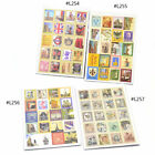 80 Pcs DIY Deco Craft Stamp Stickers Diary Sticker Scrapbooking Letters New