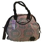 New Ladies Womens Girls Canvas Heart Pattern Handbag With Shoulder Strap bag9
