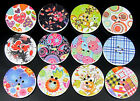 """30pcs 1-1/4"""" Painting Heart Flower Wood Buttons For Sewing Scrapbooking Choose"""