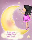 Poster for the Nursery Baby Room Decoration Art Love you to the moon and back