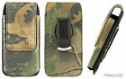 HEAVY DUTY HUNTER CAMOUFLAGE POUCH W/ METAL BELT CLIP FOR IPHONE SE 5 5S 5C