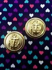 Gold Anchor Plugs / Gauges- 20mm-26mm (Sold as Pair)...Fancy /Formal